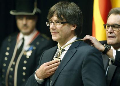 Carles Puigdemont y Artur Mas (Foto TV3)