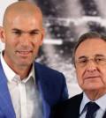 Zidane con Florentino Pérez (Foto Real Madrid)