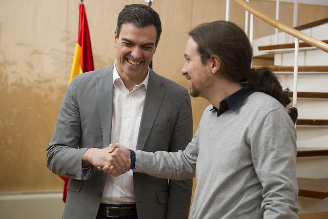 Pedro Sánchez y Pablo Iglesias (Foto: PSOE)