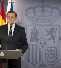 Rajoy en Moncloa (Foto: Moncloa)