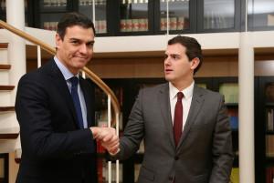 Pedro Sánchez y Albert Rivera (Foto: PSOE)