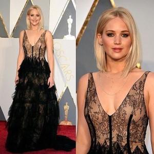 En la gala de premios de los Oscar 2016 Jennifer Lawrence reinó en la alfombra roja de las actrices