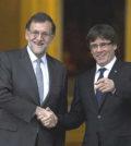 Puigdemont y Rajoy en Moncloa (Foto Moncloa)