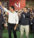 Almunia, Rubalcaba, Zapatero con Pedro Sánchez (Foto: PSOE)