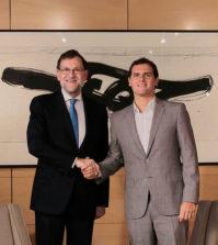 Reunión entre Rajoy y Rivera en el Congreso (Foto: PP)
