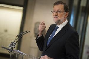 Mariano Rajoy en rueda de prensa en el Congreso (Foto: PP)