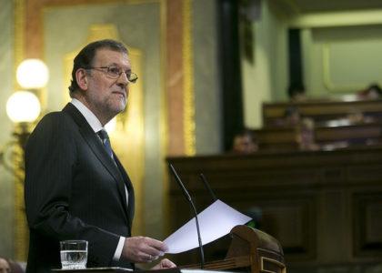 Mariano Rajoy durante su intervención en la Sesión de Investidura (Foto: PP)