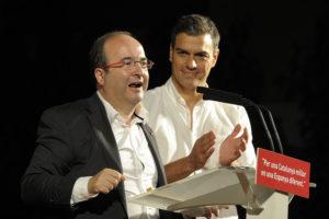 Miquel Iceta con Pedro Sánchez (Foto PSOE)