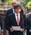 Puigdemont, con Junqueras y Forcadell (Foto: Generalitat)