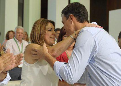 El secretario general del PSOE, Pedro Sánchez, y la líder de los socialistas andaluces, Susana Díaz (Foto: PSOE)