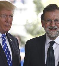 Rajoy, con Trump (Foto: Moncloa)