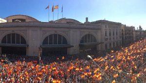 Manifestación antinacionalista en Barcelona (Foto: Sociedad Civil Catalana)
