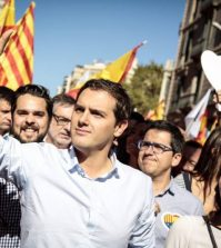 Rivera y Arrimadas en Barcelona (Foto: Cs)