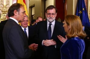 Rajoy, Pio García Escudero y Ana Pastor (Foto: Moncloa)