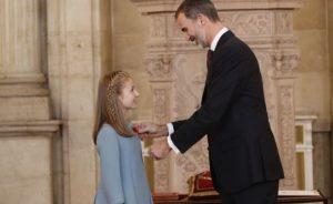 El Rey Felipe con su hija Leonor (Foto: Casa Real)