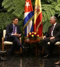 El presidente del Gobierno, Pedro Sánchez, y el presidente de la República de Cuba, Miguel Díaz-Canel (Foto: Pool Moncloa/Fernando Calvo)