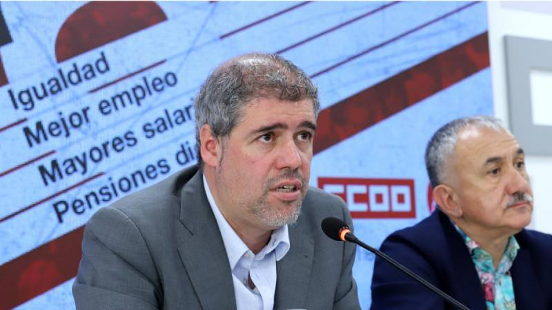 Unai Sordo y Pepe Álvarez (Foto: CCOO)